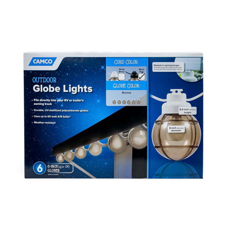 Camco Outdoor Bronze Globe Light Set