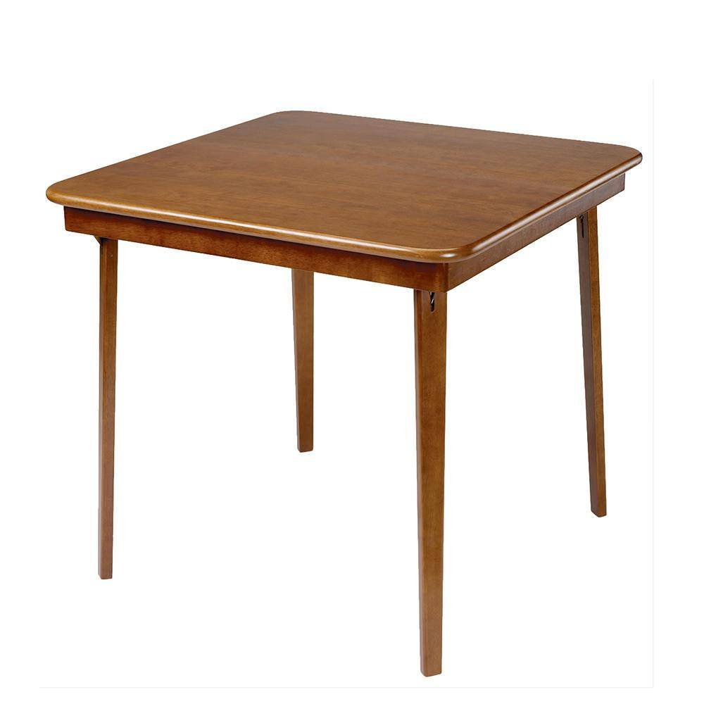 Meco Corp Straight Edge Folding Card Table, Fruitwood