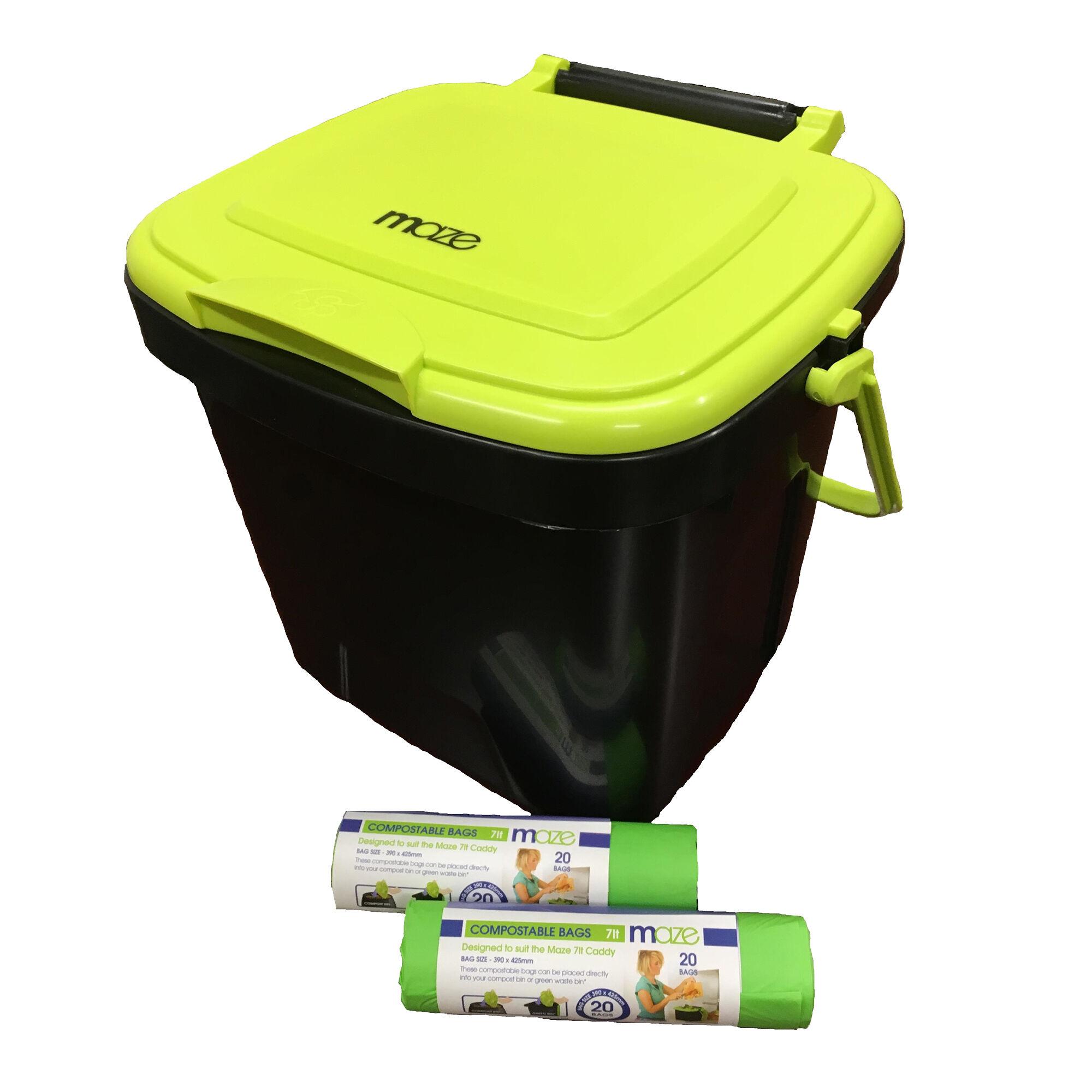 Riverstone MAZE 1.85 Gallon Kitchen Caddie with MAZE Corn Bags
