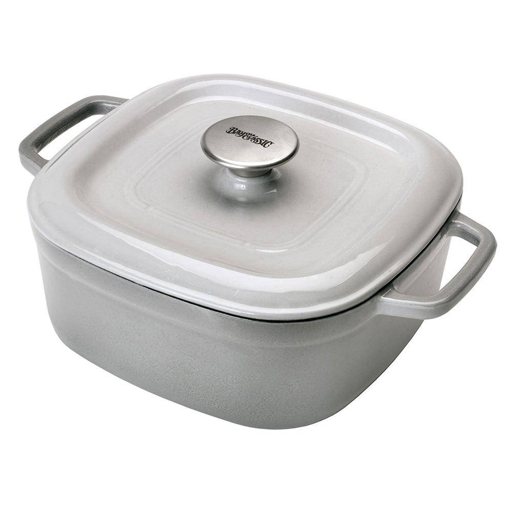 Bayou Classic® 4-qt Enameled Covered Casserole, Weathered Grey