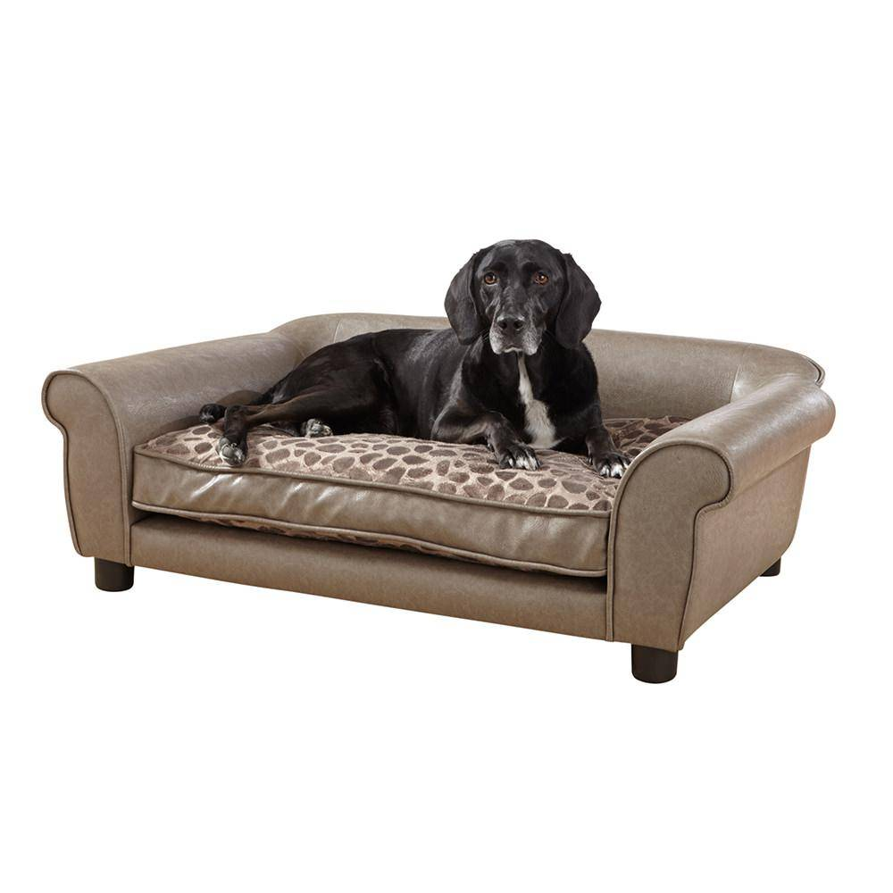 Enchanted Home Pet Rockwell Pet Sofa, Pewter