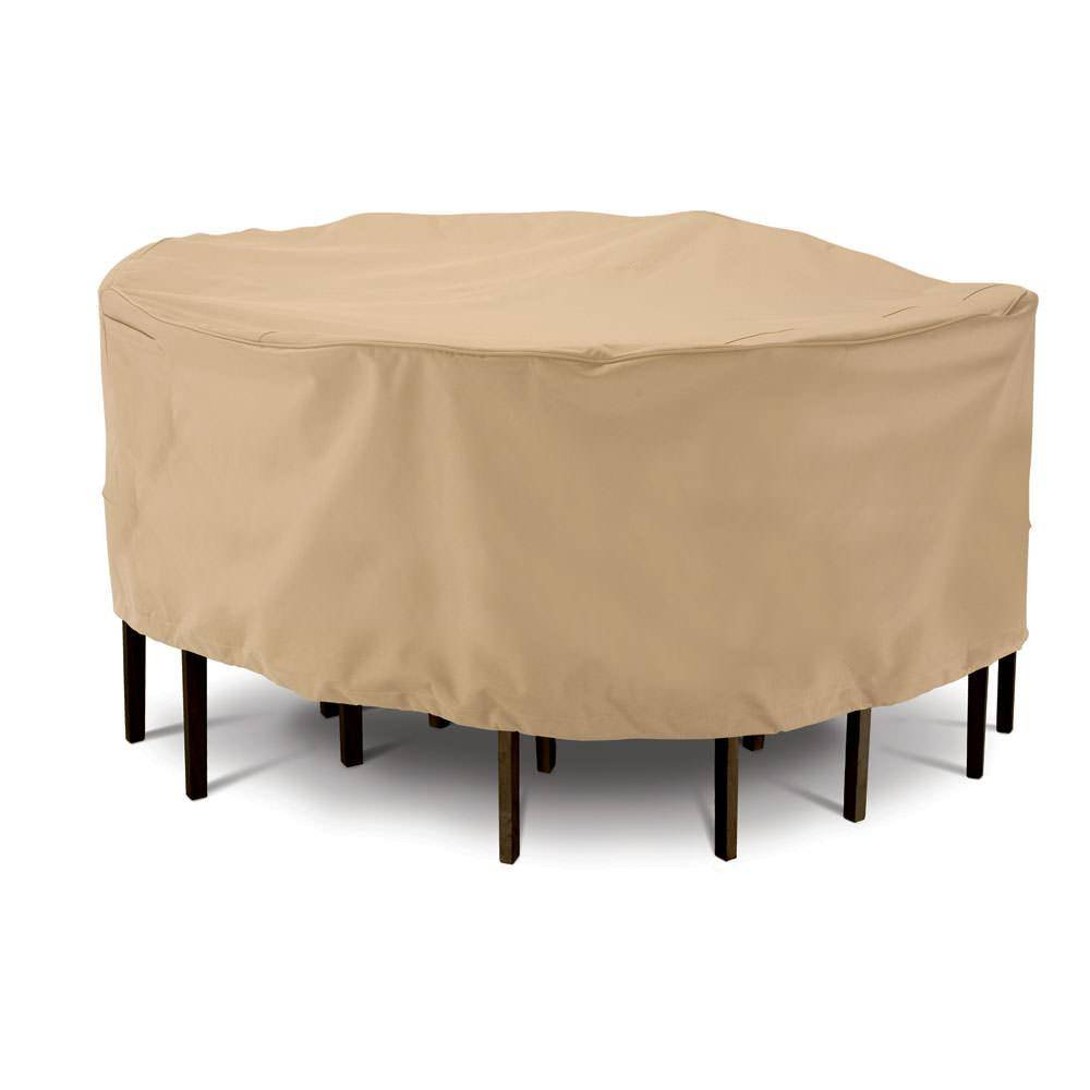 Classic Accessories Terrazzo Collection Patio Furniture Covers-Large Round Table & Chair Cover