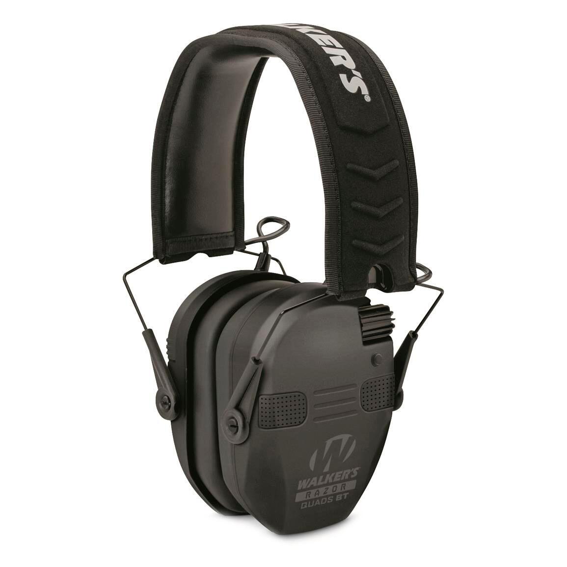 Walker's Razor Slim Electronic Quad Bluetooth Earmuff