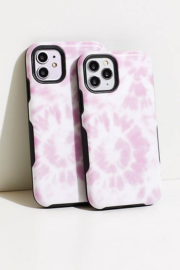 Casely Down For Whatever Phone Case by Casely at Free People, Pink Tie Dye, US 12