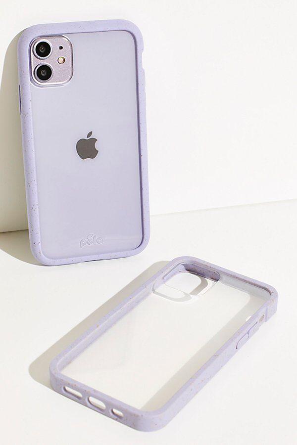 Pela Clear Eco-Friendly Phone Case by Pela at Free People, Lavender, Us 13/eu 44
