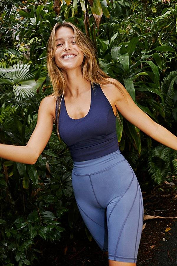 FP Movement Lightning Synergy Crop by FP Movement at Free People, Deepest Navy, S