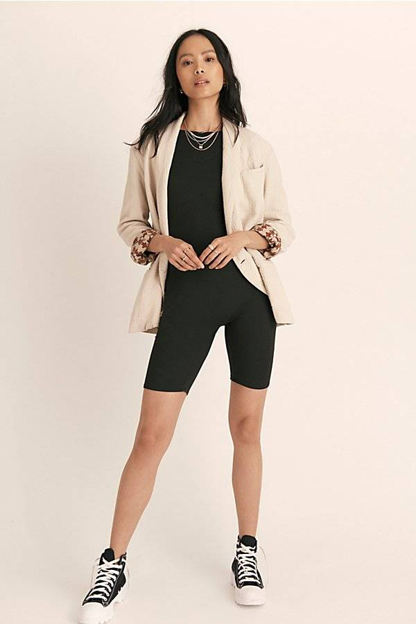 Intimately Zoe Bike Short Romper by Intimately at Free People, Black, XS