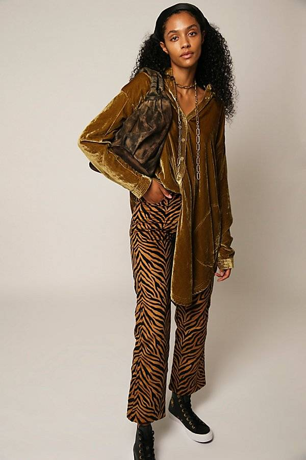 Tach Clothing Rumba Velvet Pants by Tach Clothing at Free People, Rumba, XS