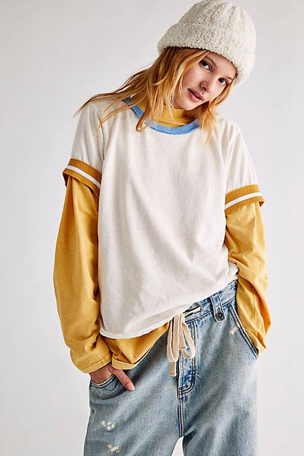 We The Free Let's Do This Tee by We The Free at Free People, Sport Combo, XS