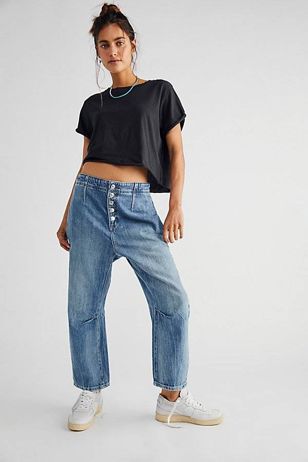 We The Free Osaka Relaxed Jeans by We The Free at Free People, Spring Garden, 26