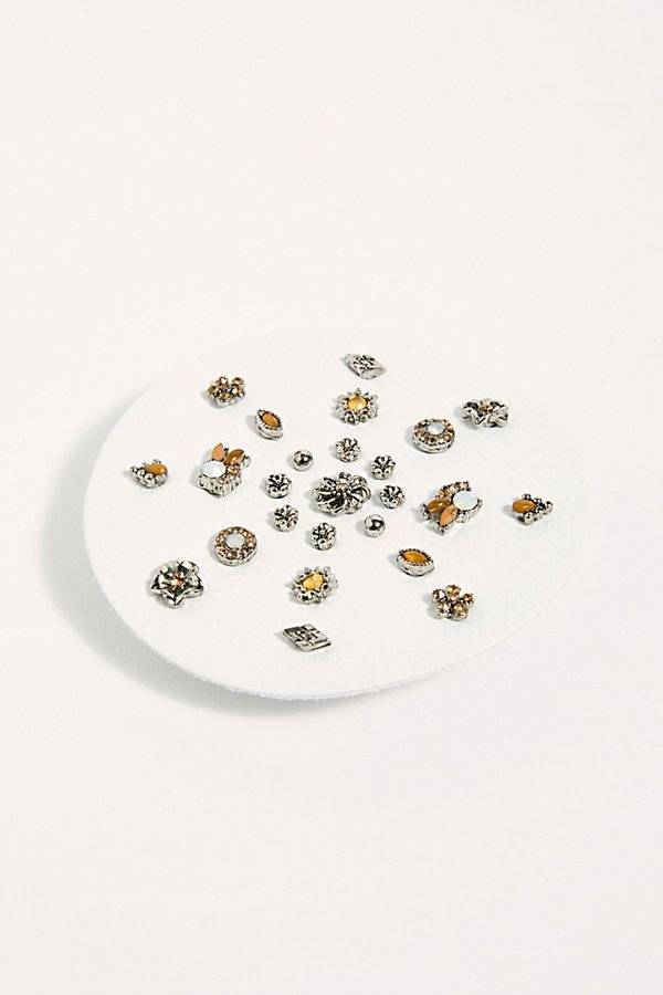 Free People Destination Earring Set by Free People, Silver Daisy Garden, One Size