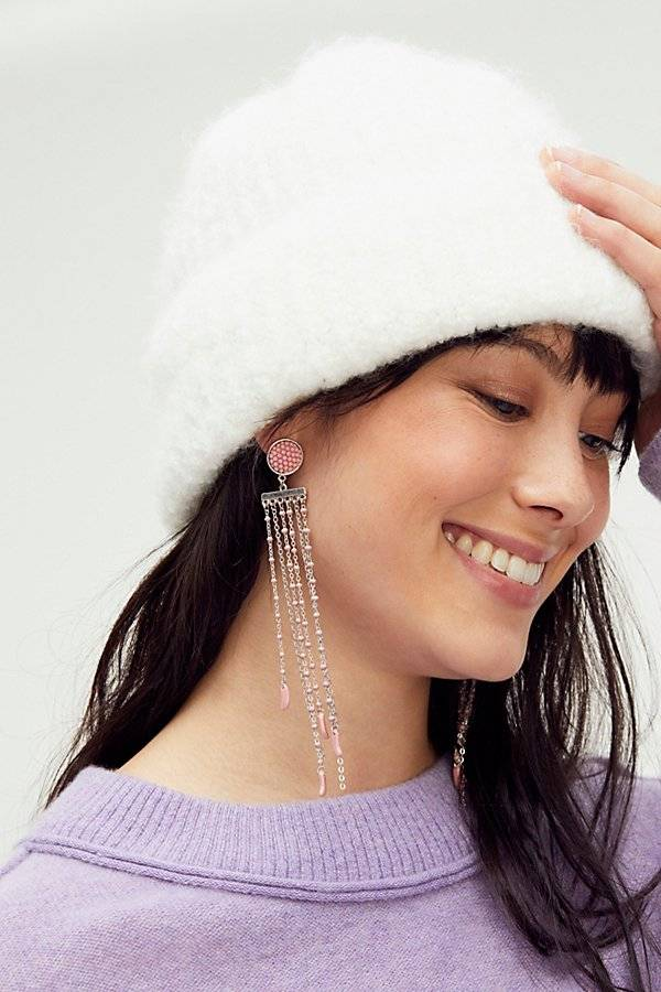Free People By The Way Earrings by Free People, PInk, One Size