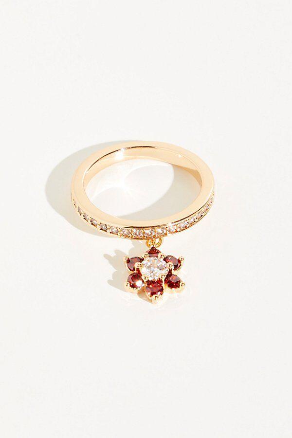 Joy Dravecky Flower Shaker Ring by Joy Dravecky at Free People, Gold, 7