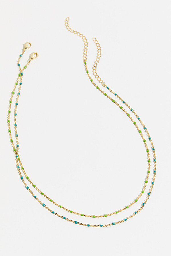 Joy Dravecky Necklace Gift Set by Joy Dravecky at Free People, Blue / Green, One Size