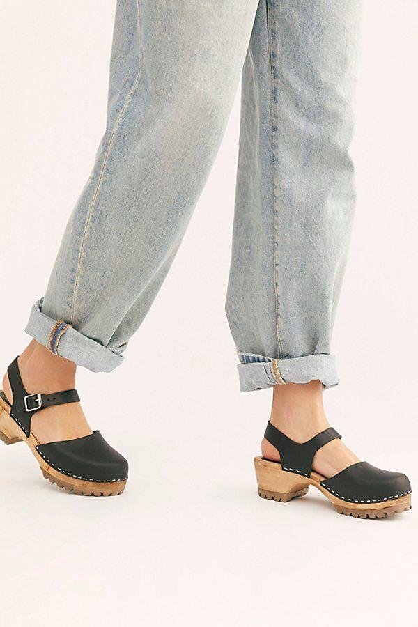 MIA Shoes Freja Clogs by MIA Shoes at Free People, Black, EU 37