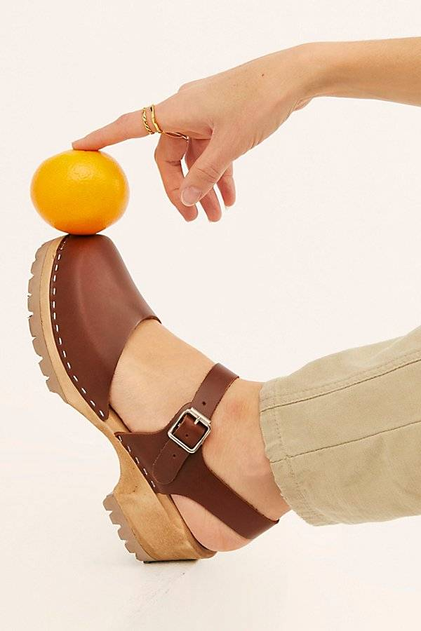 MIA Shoes Freja Clogs by MIA Shoes at Free People, Brown, EU 37
