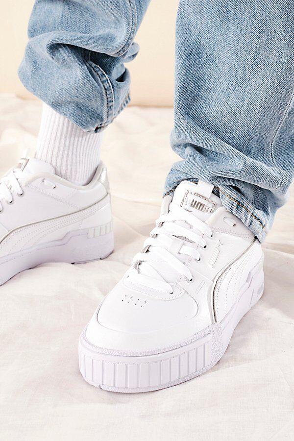 Puma Cali Sport Wabi-Sabi Sneakers by Puma at Free People, White / Puma Silver, US 8