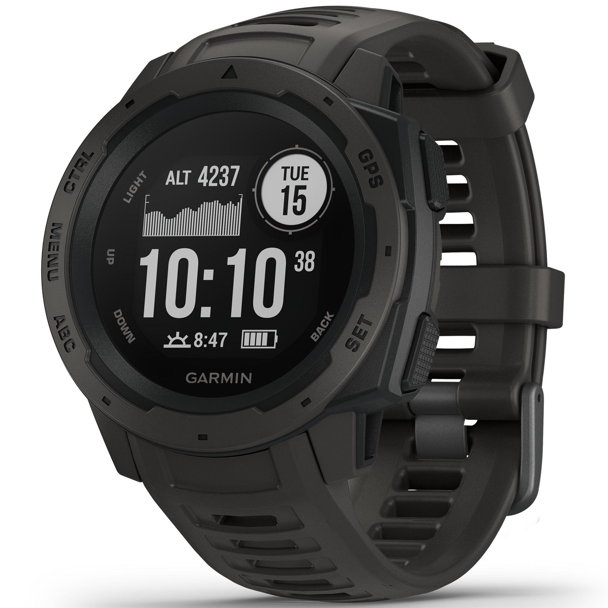 Garmin Instinct Watch  - Graphite - Size: One Size