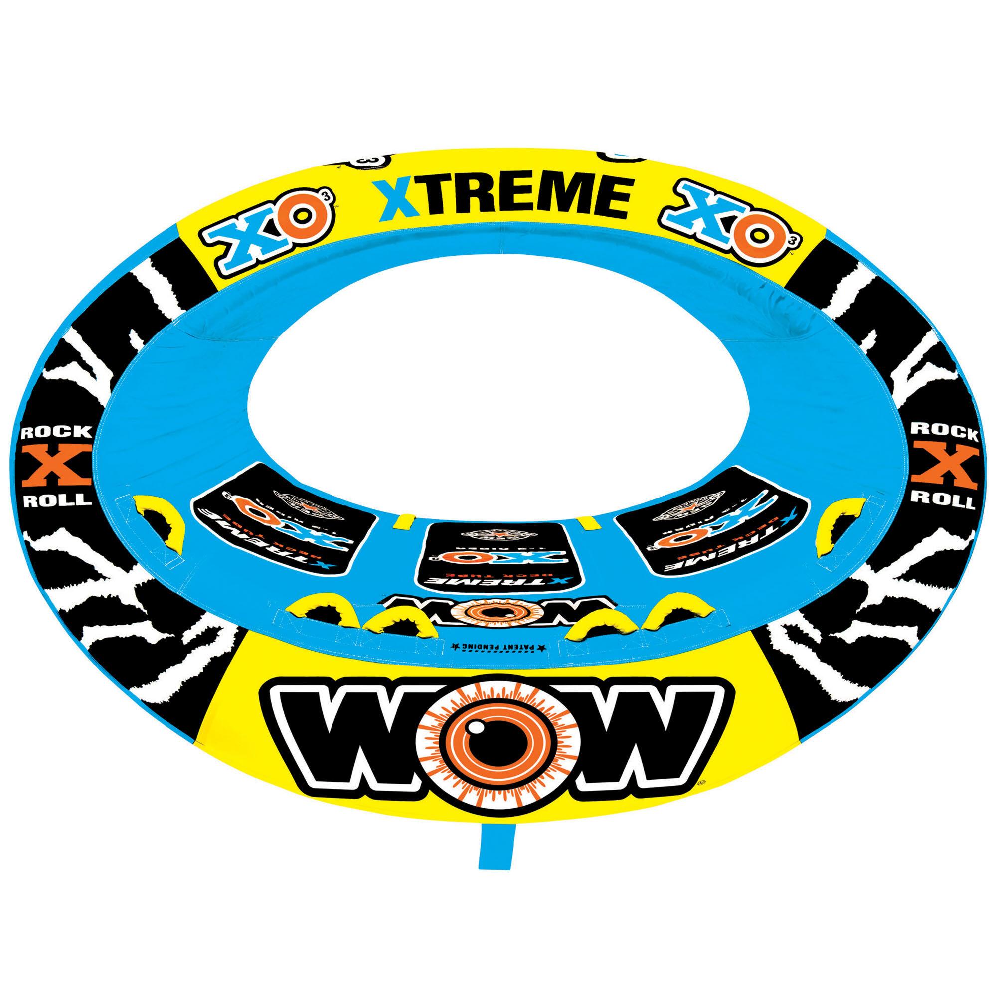 Wow Toys Sports XO Extreme One To Three Person Towable Tube '20  - Black/Blue/Yellow - Size: One Size