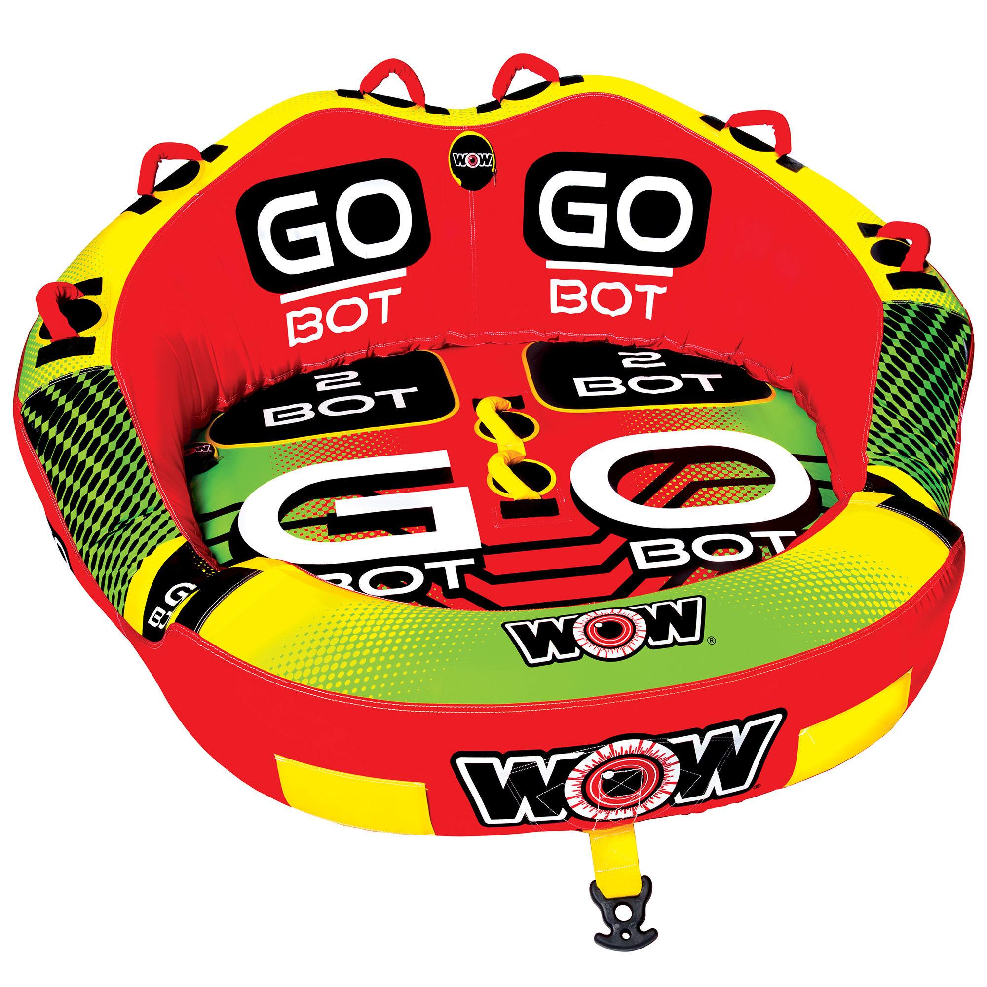 Wow Toys Sports Go-Bot 2 Person Tow Tube '20  - Orange/Yellow/Green - Size: One Size