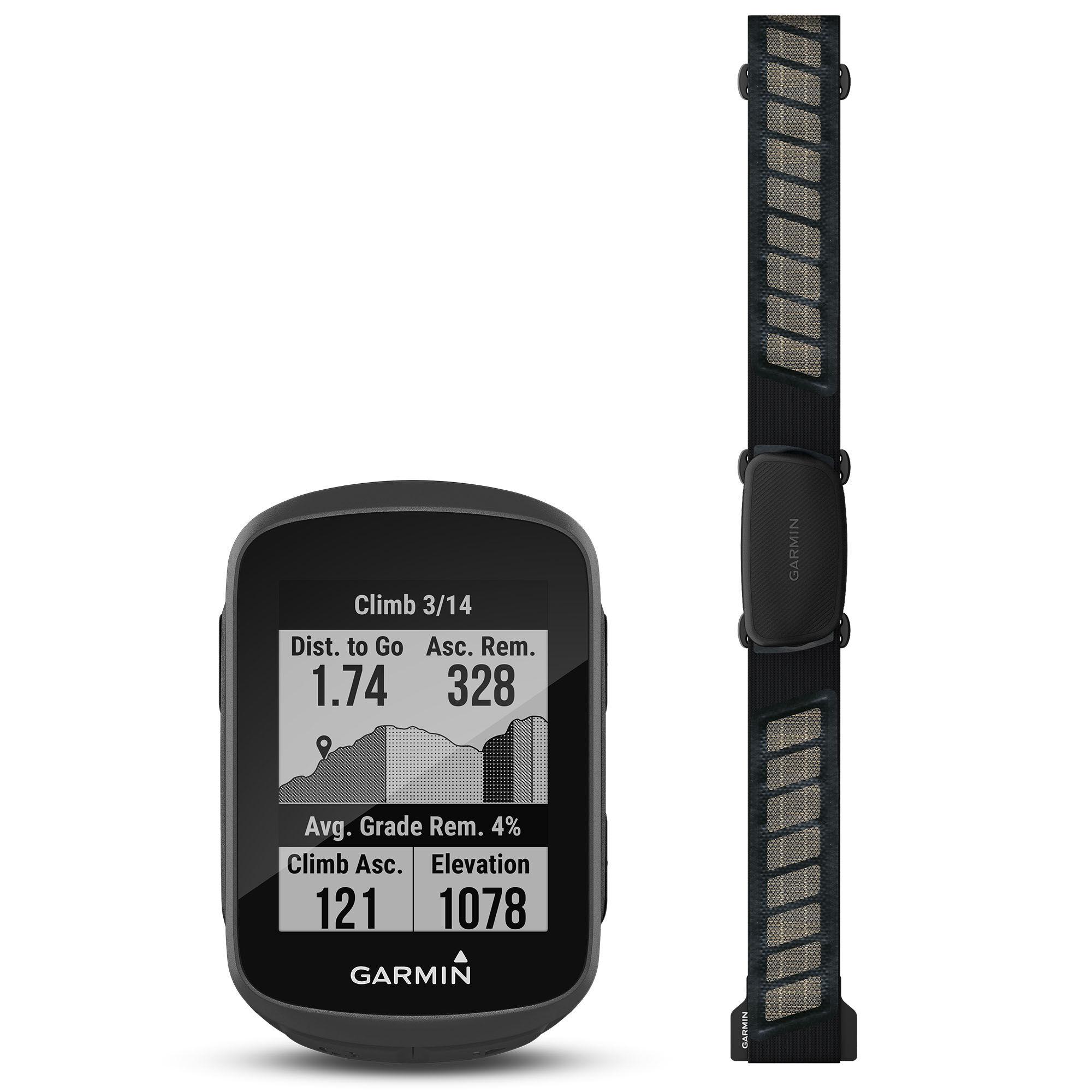 Garmin Edge 130 Plus GPS Bike Computer Bundle  - Black - Size: One Size