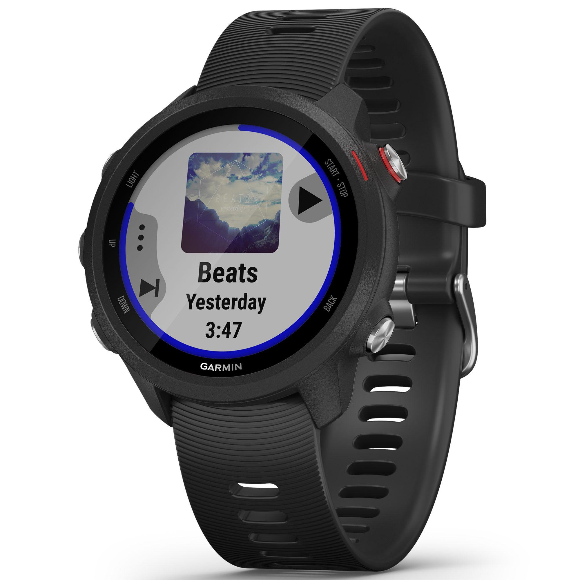 Garmin Forerunner 245 Music GPS Running Watch  - Black - Size: One Size