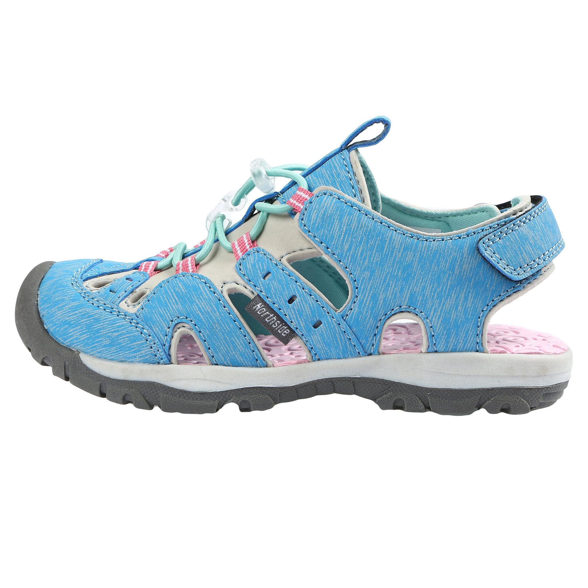 Northside Girl's Burke SE Sport Sandals  - Blue/Pink - Size: 4