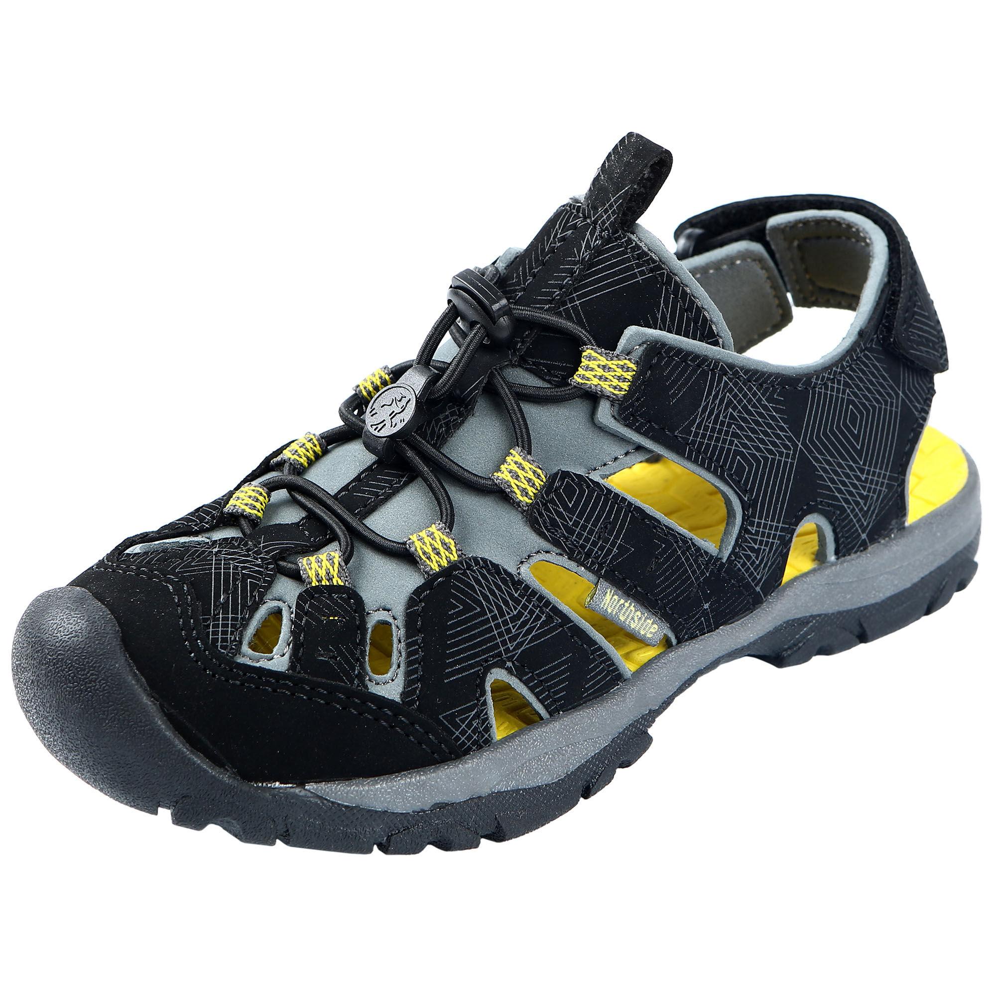 Northside Boy's Burke SE Sport Sandals  - Black/Yellow - Size: 3
