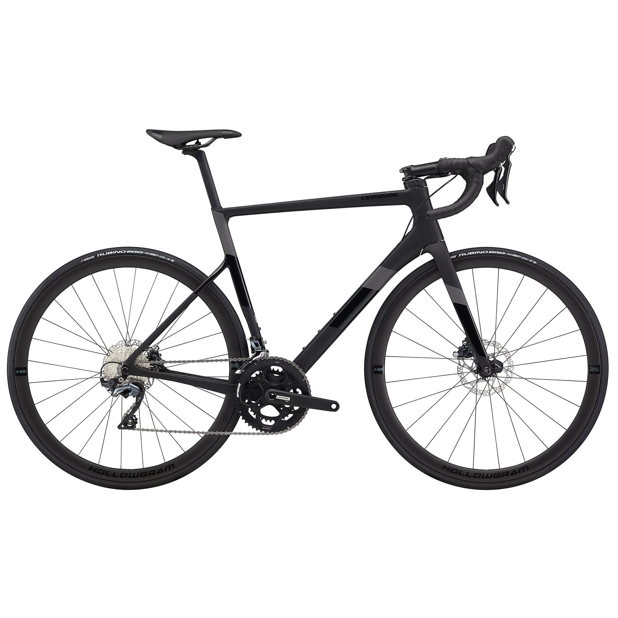 Cannondale Men's SuperSix EVO Carbon Disc Ultegra Performance Road Bike '20  - Matte Black - Size: 56