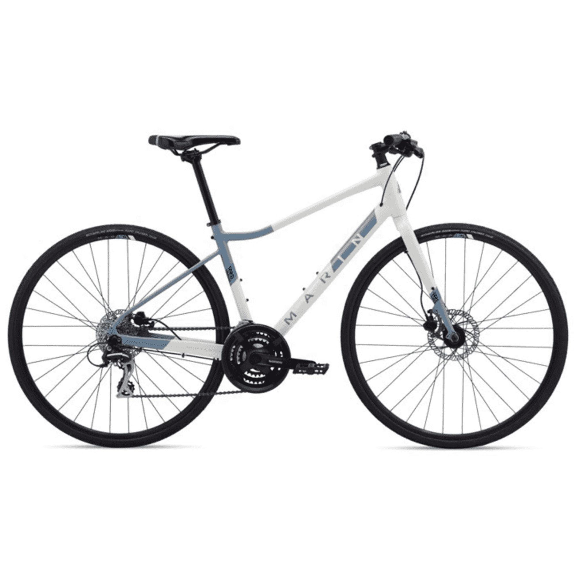 Marin Women's Terra Linda 2 Hybrid Bike '20  - Gloss White/Ash Blue/Deep Blue - Size: Small