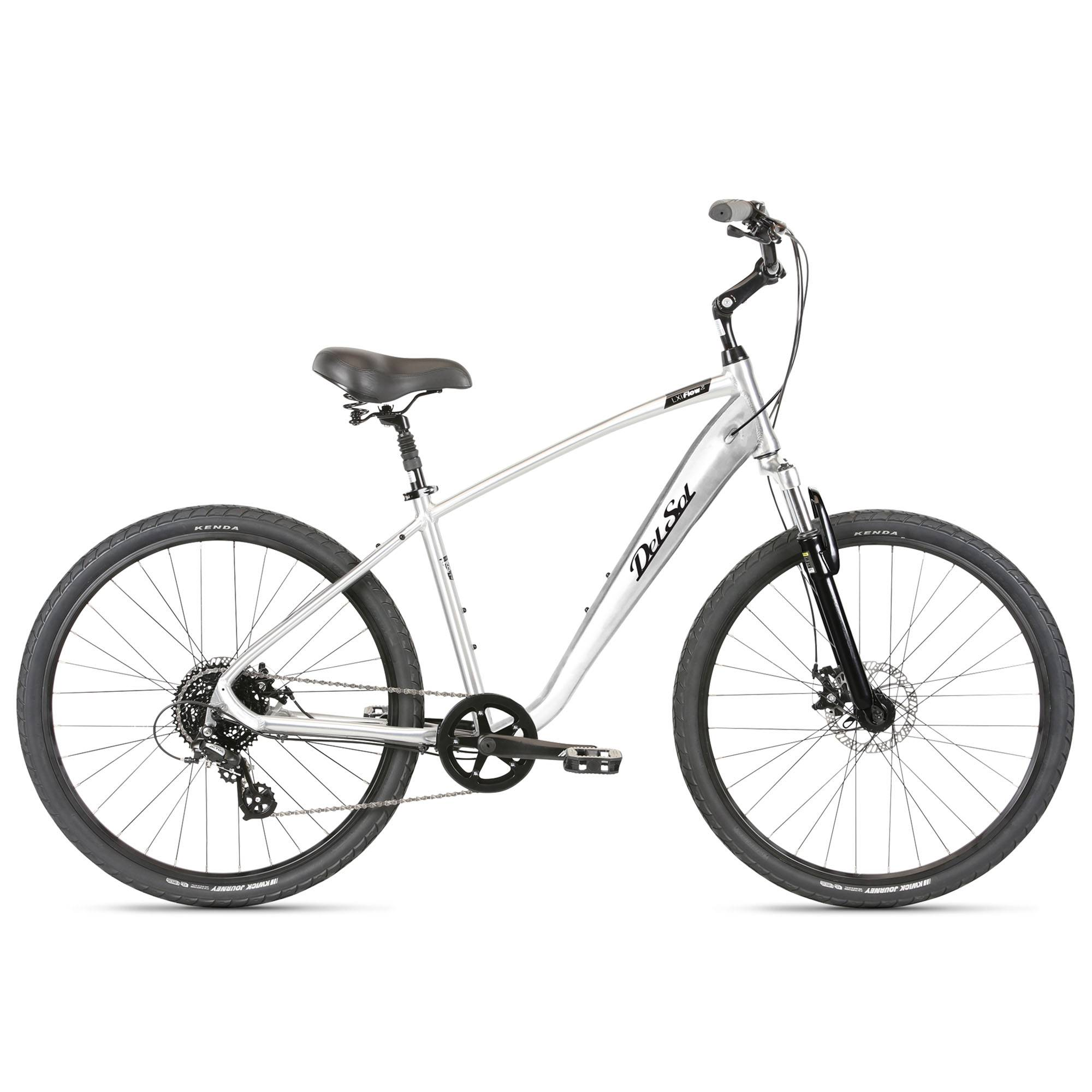 Del Sol Men's LXI Flow 2 Comfort Bike '21  - Brushed Alloy - Size: Small