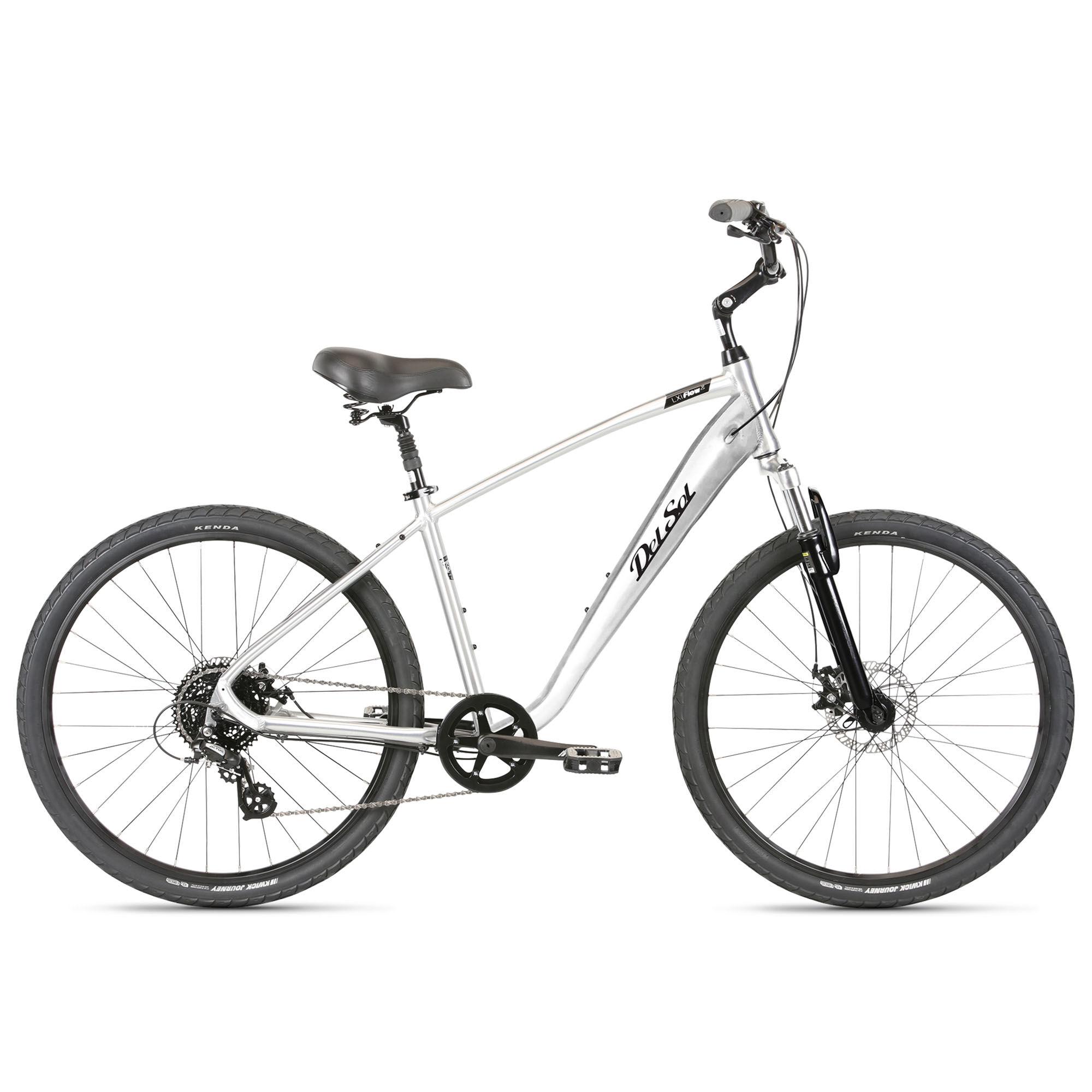 Del Sol Men's LXI Flow 2 Comfort Bike '21  - Brushed Alloy - Size: Large