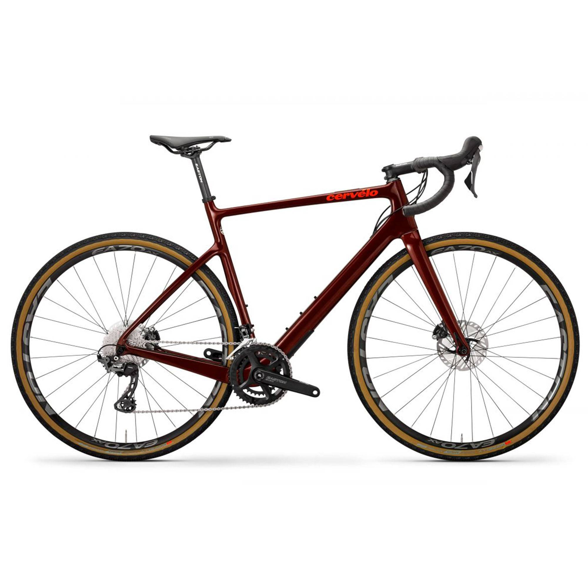 Cervelo Men's Aspero GRX Gravel Bike '20  - Burgundy/Dark Orange - Size: 58