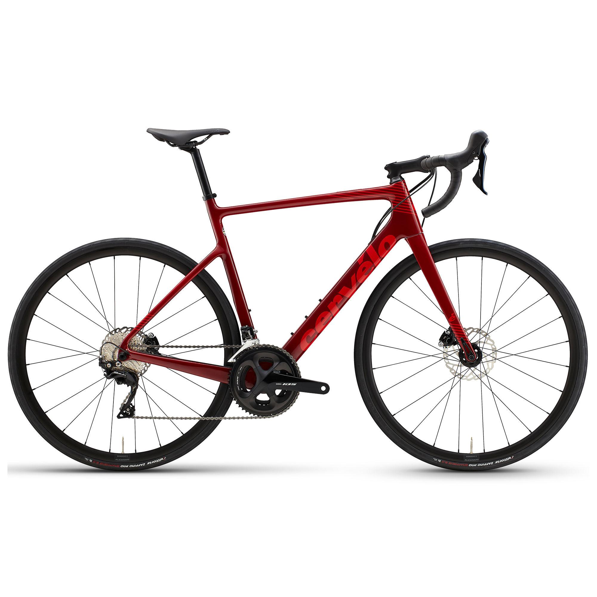 Cervelo Men's Caledonia 105 Road Bike '21  - Maroon/Red - Size: 56