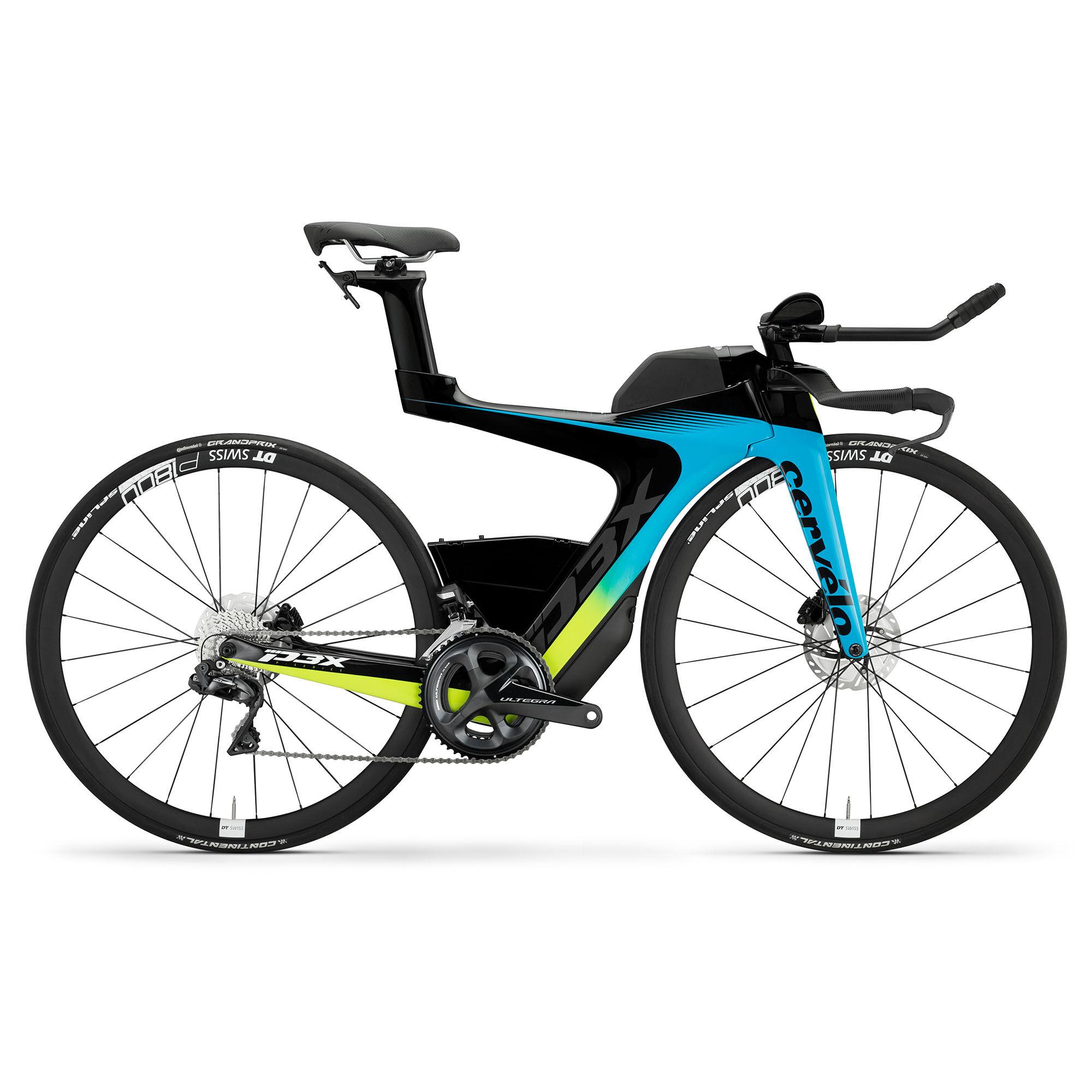 Cervelo P3X Ultegra DI2 Triathlon Bike '20  - Riviera/Fluoro/Black - Size: Large