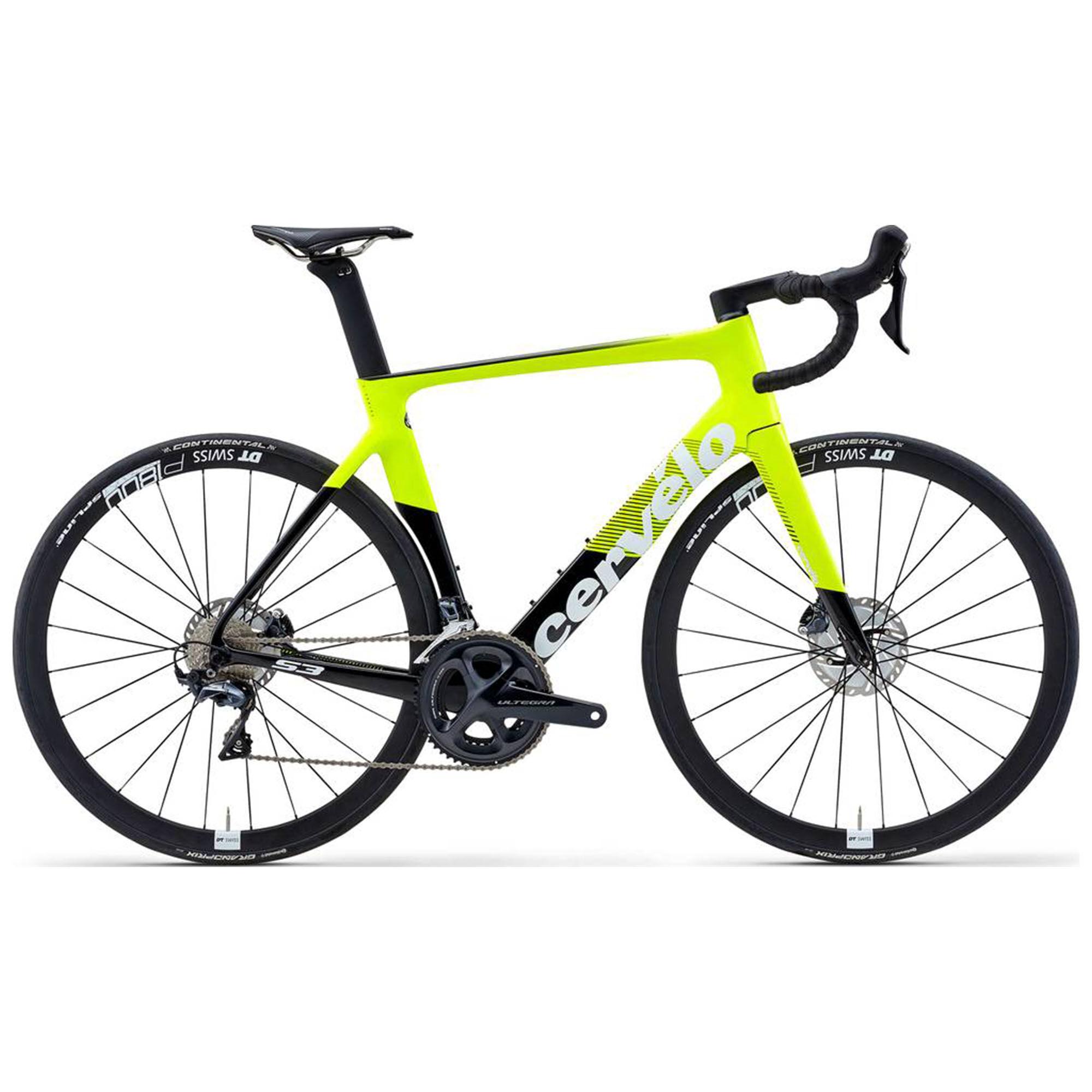 Cervelo Men's S3 Ultegra Disc Road Bike '20  - Yello/Black - Size: 56