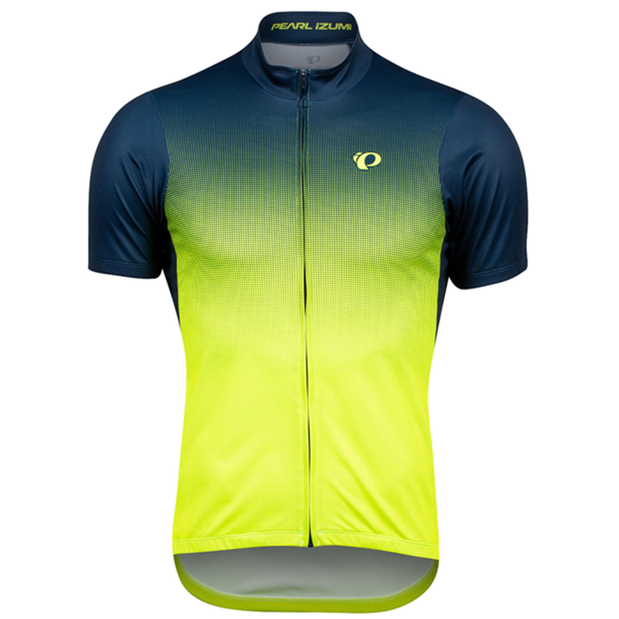 Pearl Izumi Men's Select LTD Cycling Jersey  - Navy/Yellow Transform - Size: Large