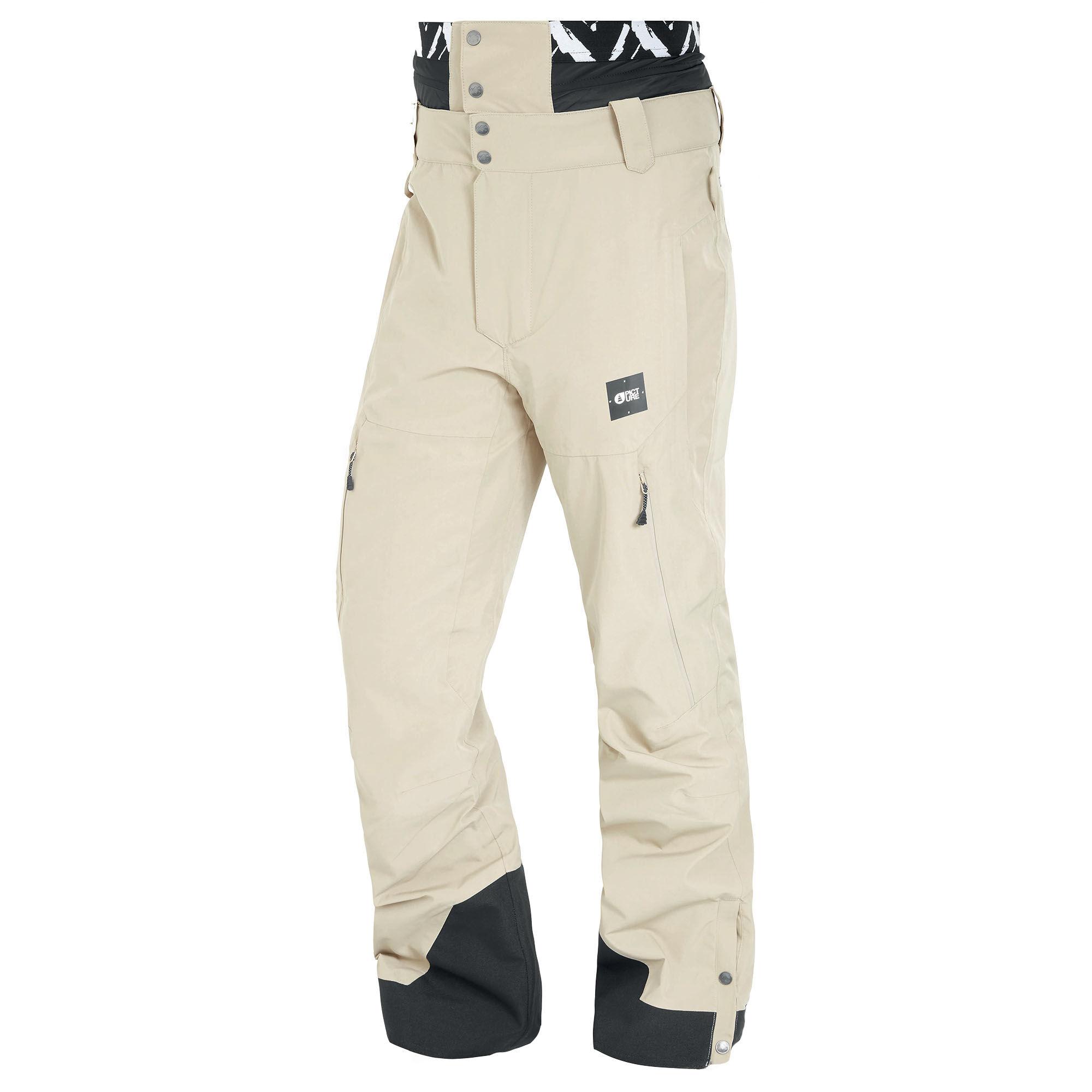 Picture Organic Clothing Men's Object Snow Pants  - Stone - Size: Medium