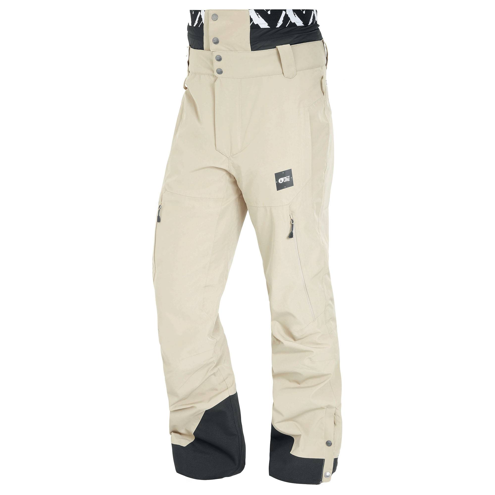Picture Organic Clothing Men's Object Snow Pants  - Stone - Size: Small