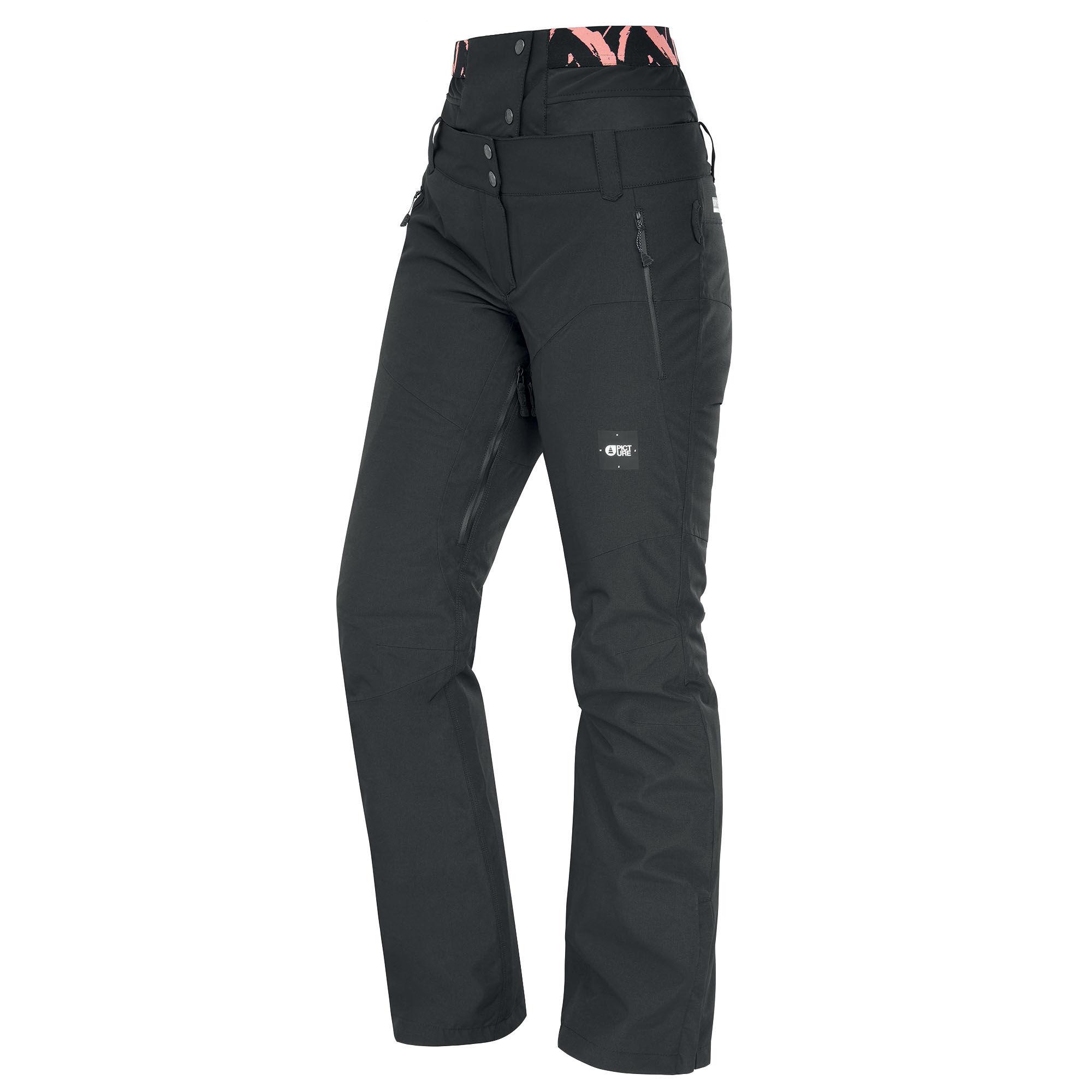 Picture Organic Clothing Women's Exa Snow Pants  - Peonies Black - Size: Medium