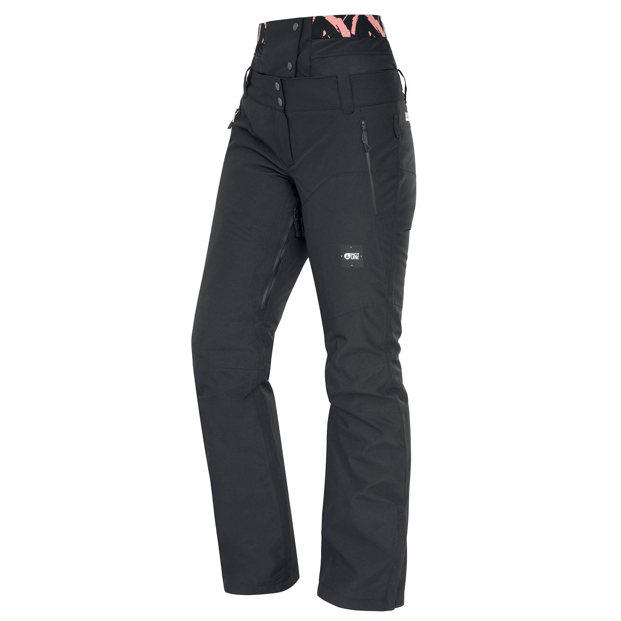 Picture Organic Clothing Women's Exa Snow Pants  - Peonies Black - Size: Extra Large
