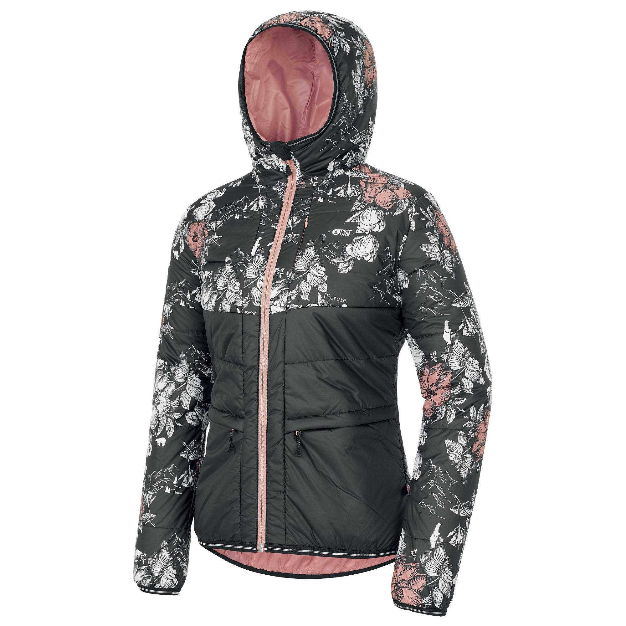 Picture Organic Clothing Women's Kallya Snow Jacket  - Peonies Black - Size: Small