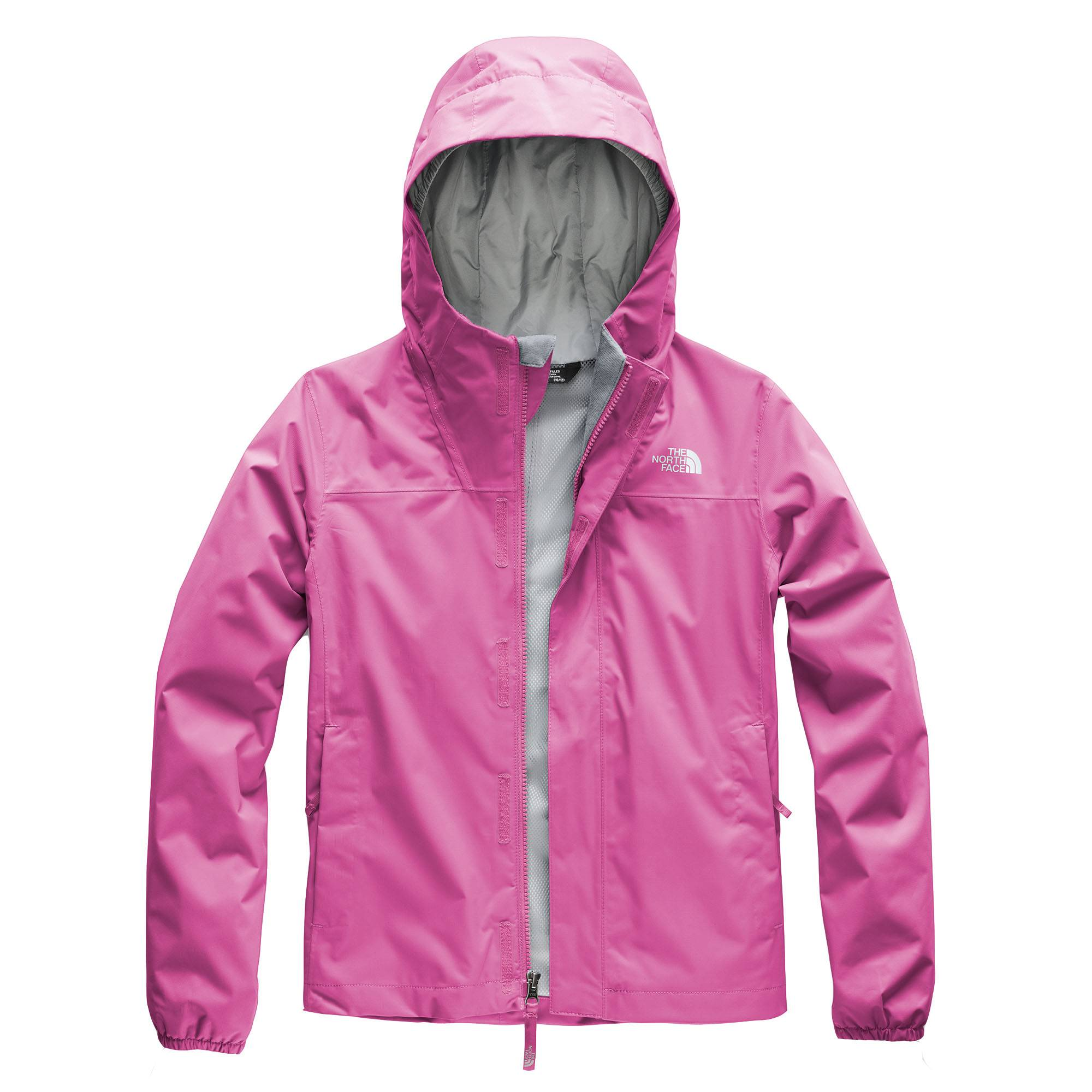 The North Face Girl's Resolve Reflective Rain Jacket  - Wisteria Purple - Size: Extra Large