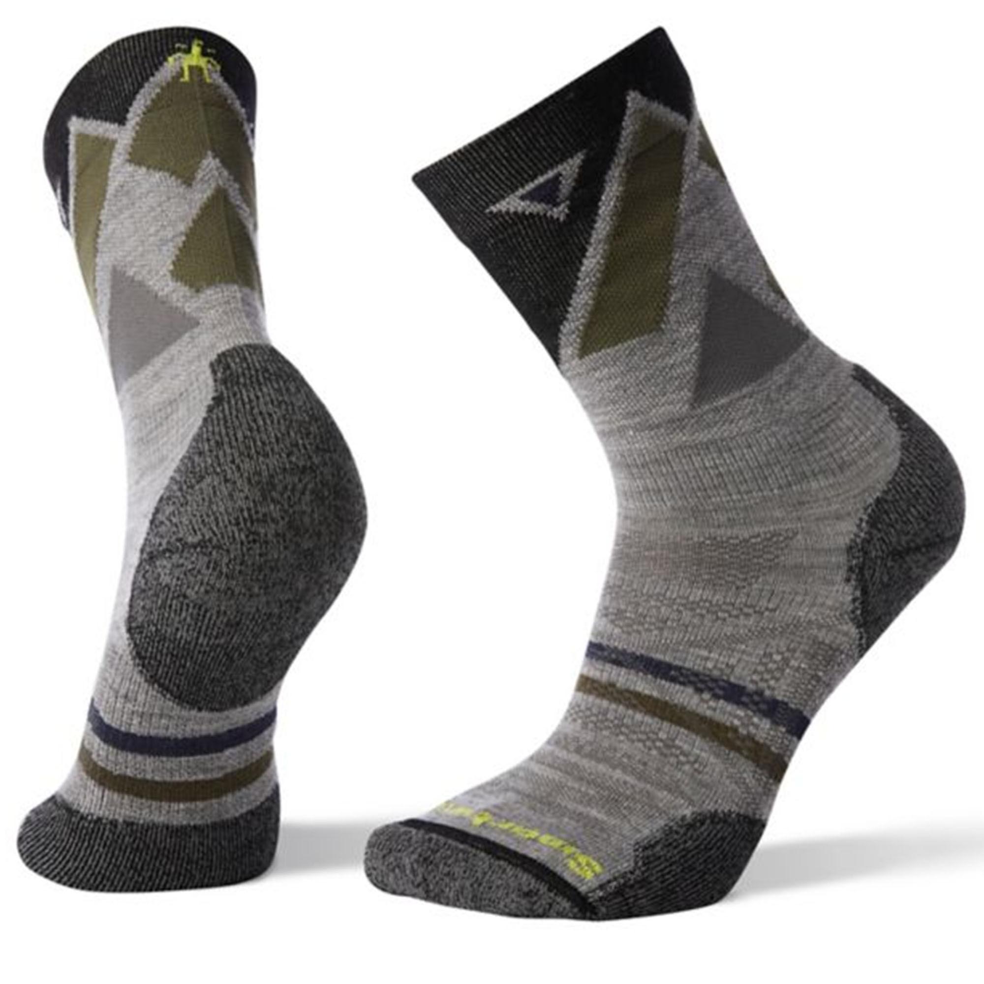 Smartwool Men's Outdoor Light Pattern Crew Socks  - Light Gray - Size: Large