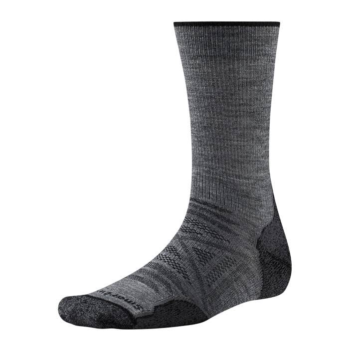 Smartwool Men's PhD Outdoor Light Crew Socks  - Medium Grey - Size: Large