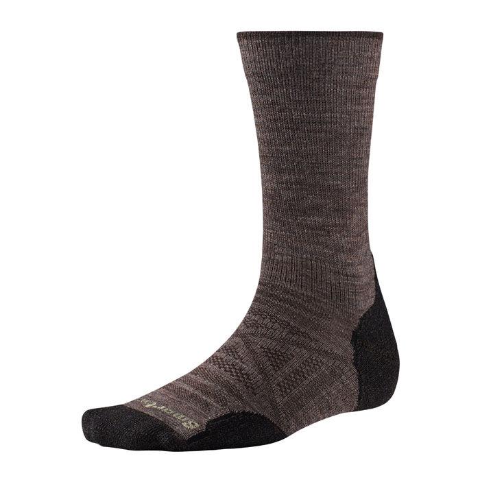 Smartwool Men's PhD Outdoor Light Crew Socks  - Taupe - Size: Medium