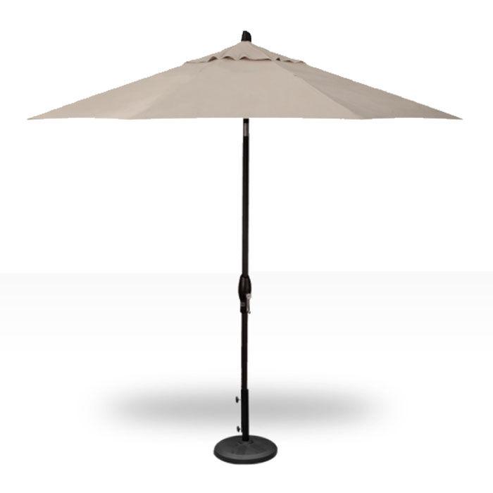 Treasure Garden 9' Auto Tilt Umbrella - Black with Beige  - Beige - Size: One Size