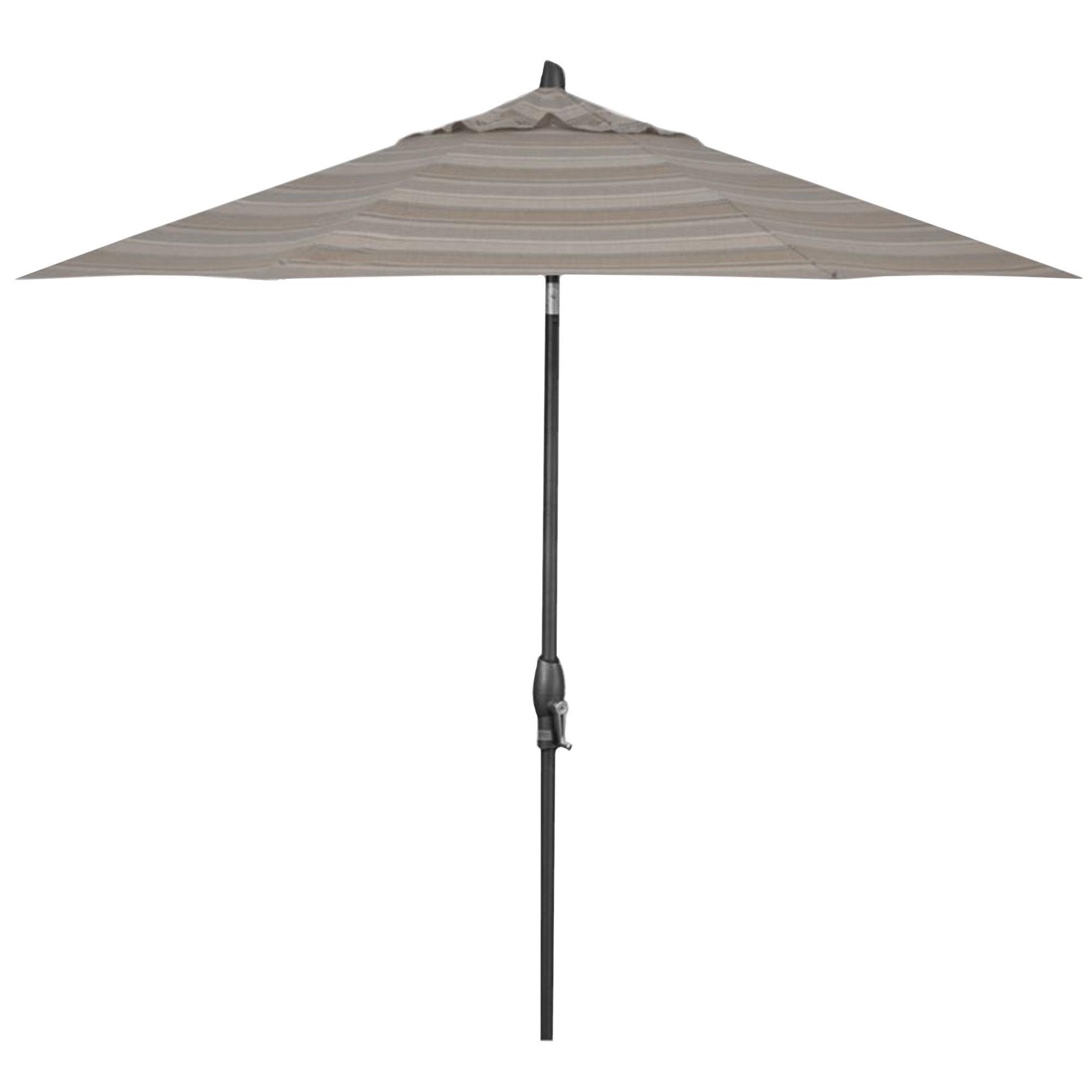 Treasure Garden 9' Auto Tilt Trusted Fog Stripe Octagon Umbrella  - Anthracite/Trusted Fog Stripe - Size: One Size