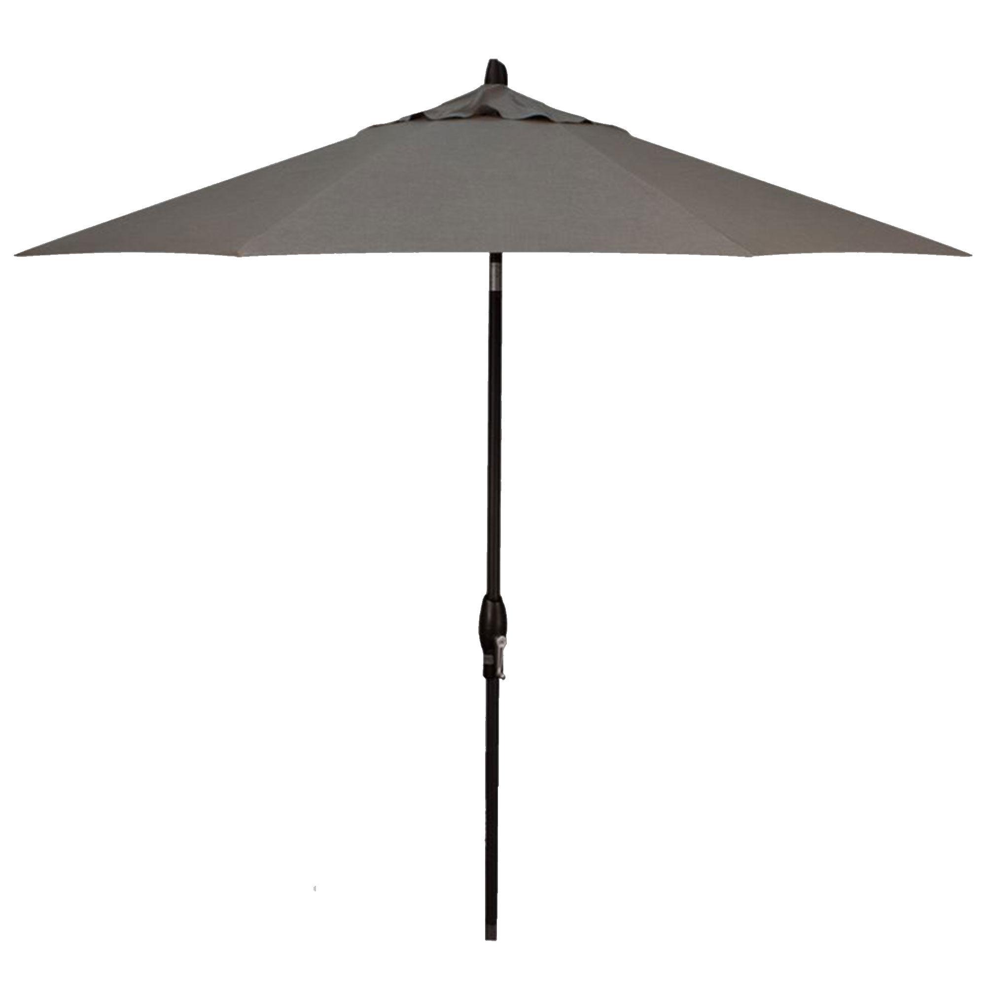 Treasure Garden 9' Auto Tilt Cast Slate Octagon Umbrella  - Black/Cast Slate - Size: One Size