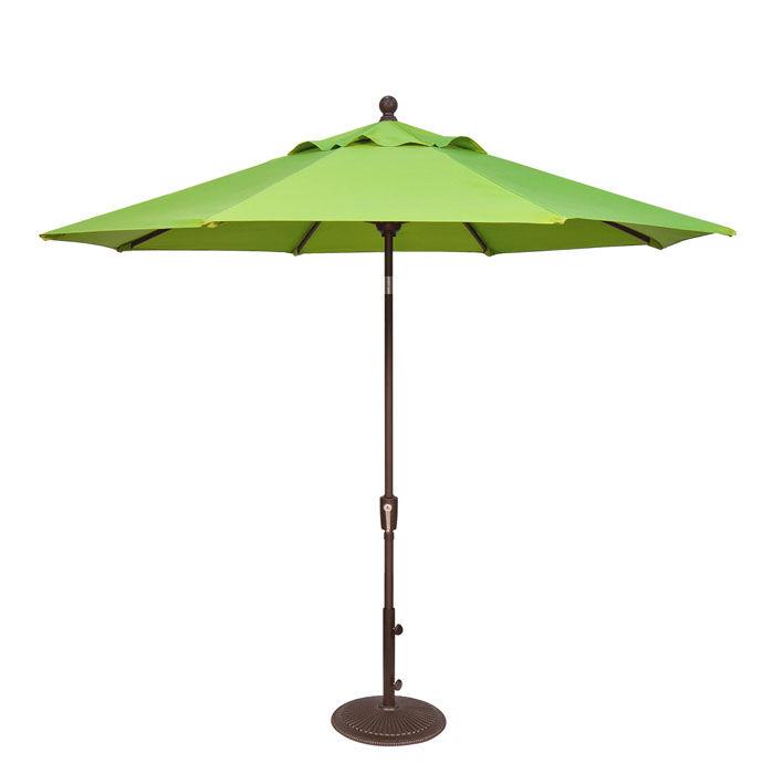 Treasure Garden 9' Push Button Tilt Aluminum Shade Umbrella Bronze/Macaw  - Bronze/Macaw - Size: One Size